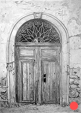 Gate from church of Fraile's cottage