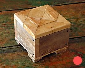 Caja doble madera