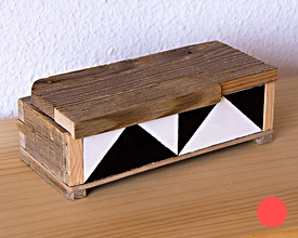 Caja doble pirámide
