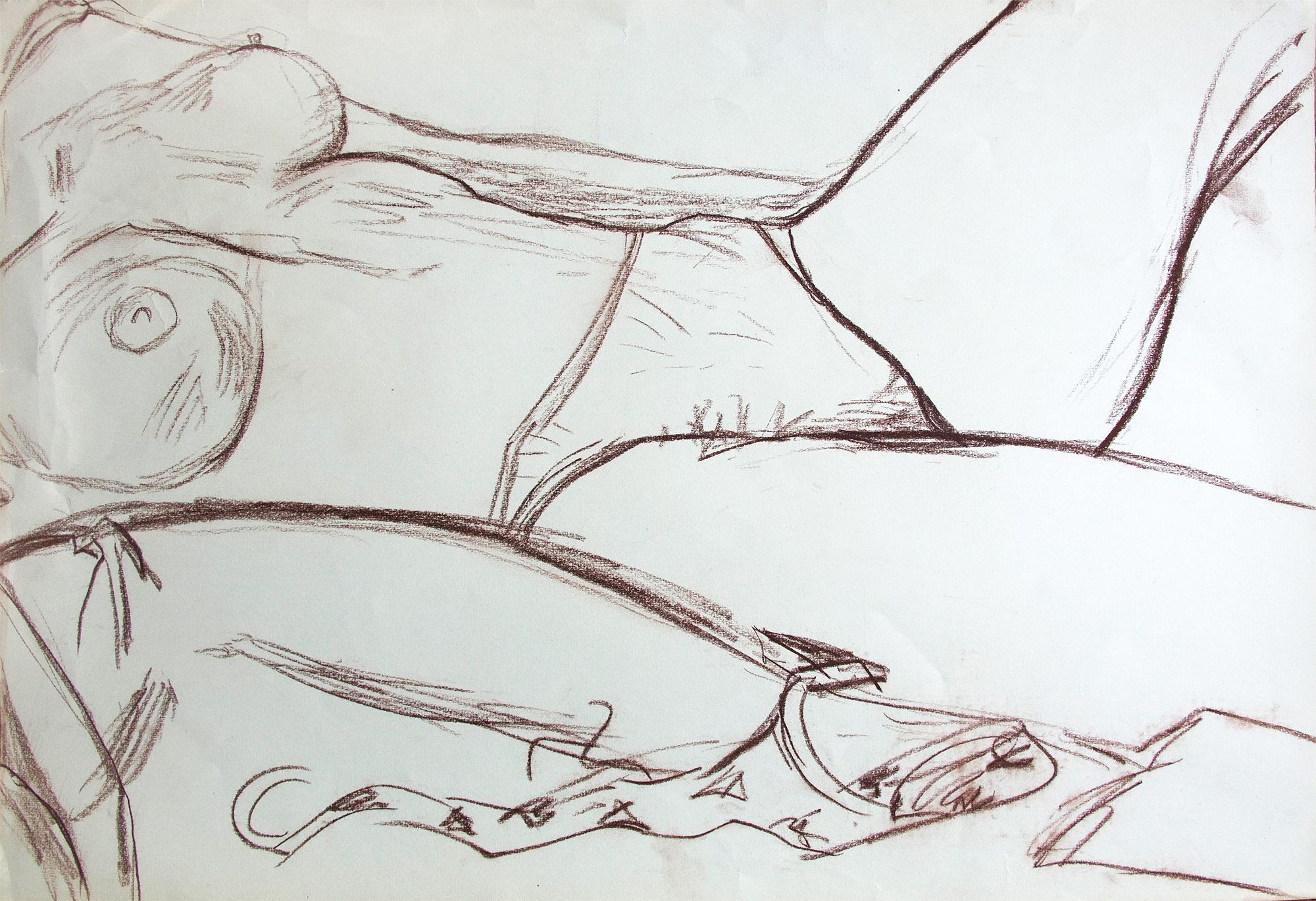 Desnudo con sujetador