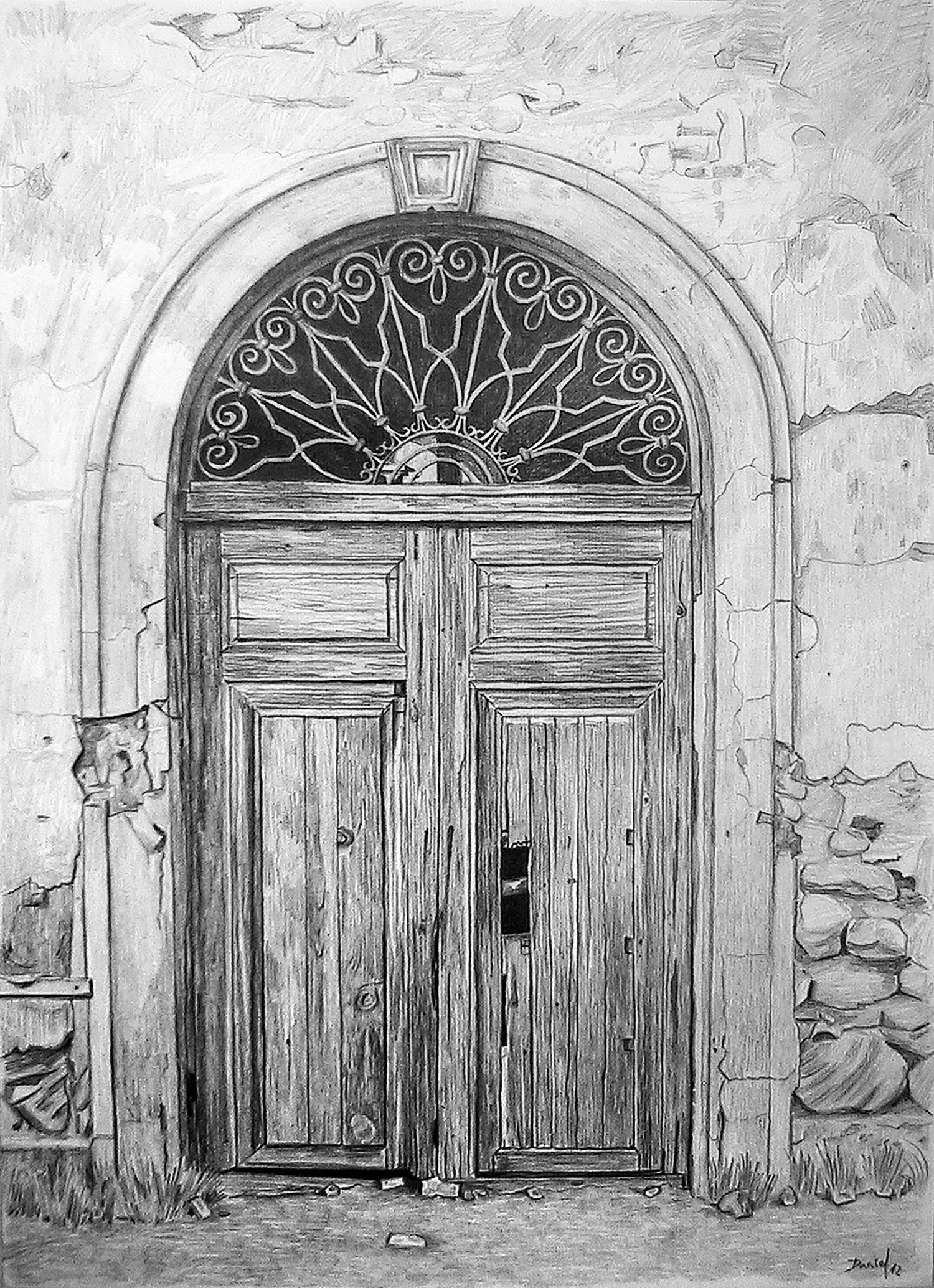 Puerta de la iglesia del cortijo El Fraile