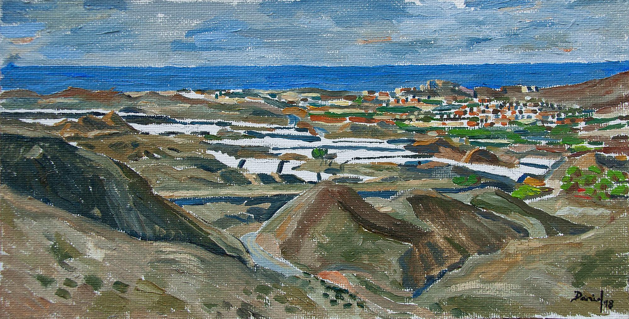 Vista de Almería desde Sierra Alhamilla