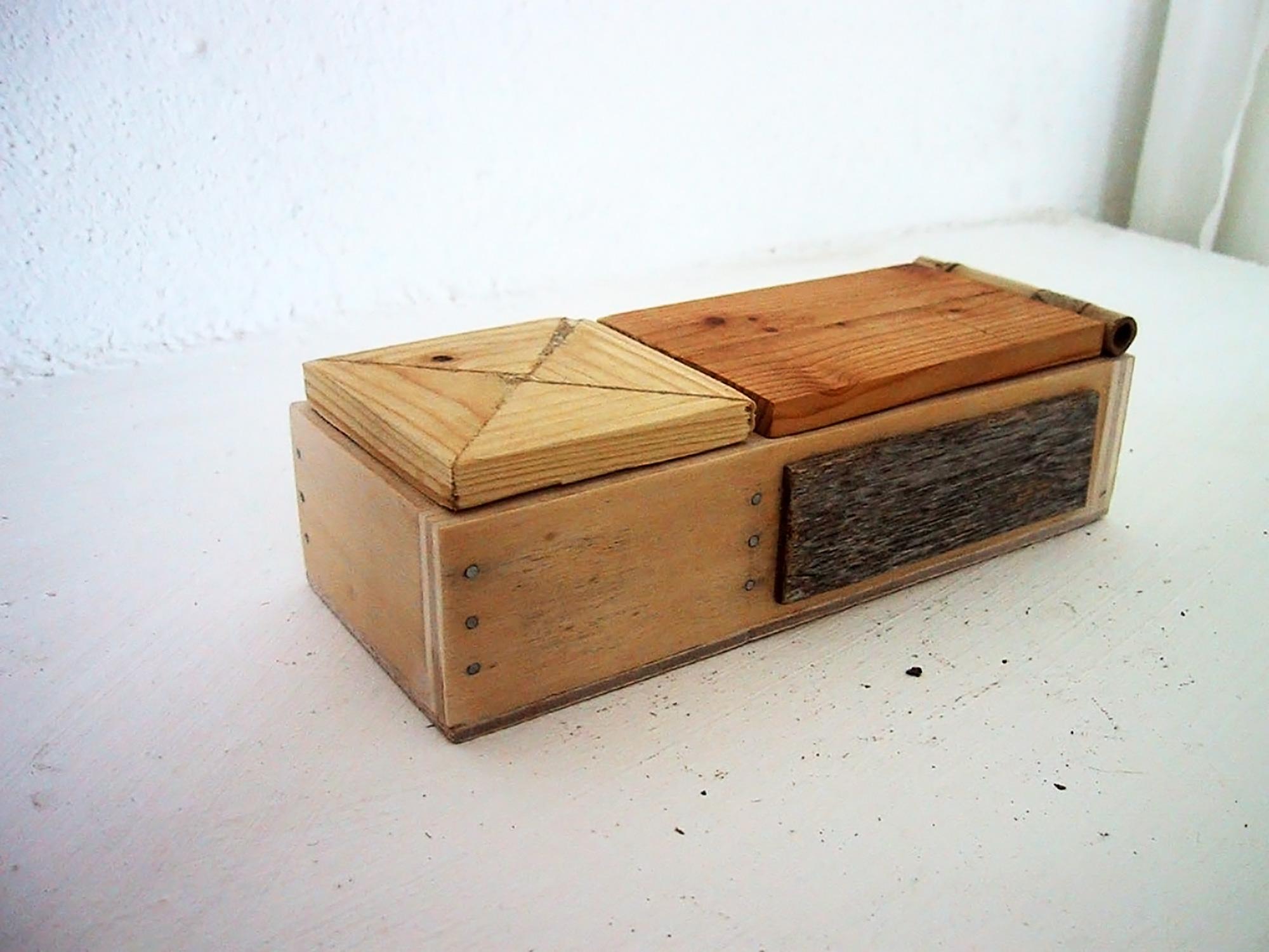 Caja doble con caña