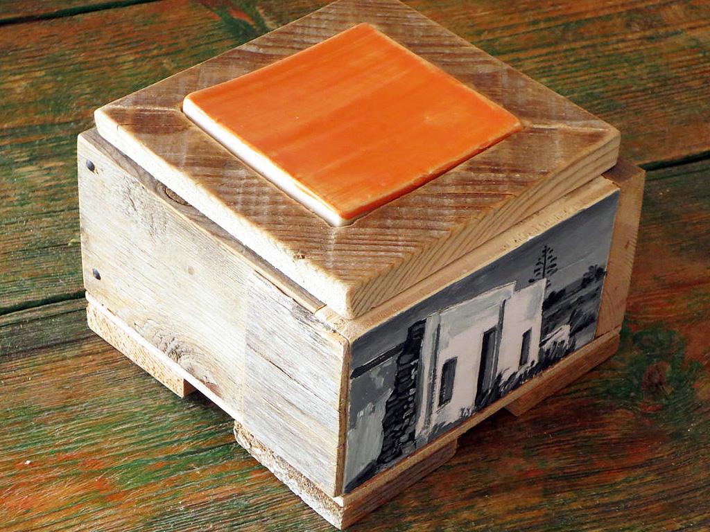 Caja triple madera y cortijos