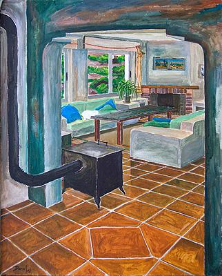 Interior con chimenea 2