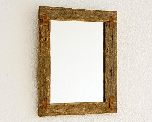 Espejo rústico envejecido con ensambles