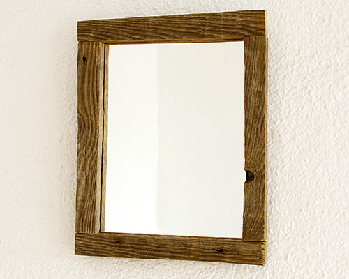 Aged rustic mirror