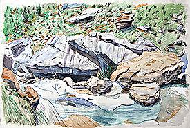 Tramo de río en pirineos