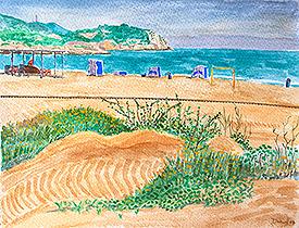 La playa del Far