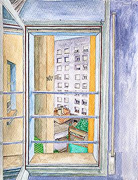 Vista a través de una ventana