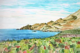 La Loma Pelada con mar