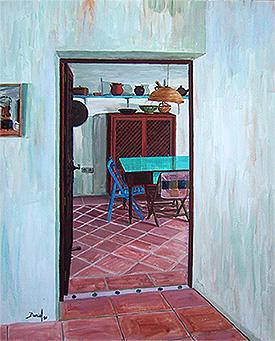 Interior con mesa y sillas