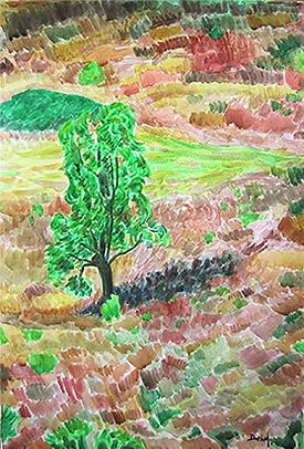 Árbol con monte bajo