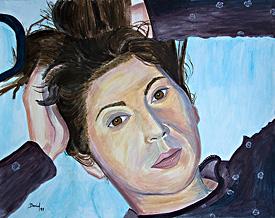 Retrato con el pelo recogido