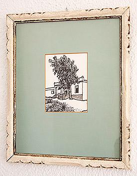 Casa de Ruescas con eucalipto