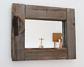 Espejo marco de ventana con bisagra