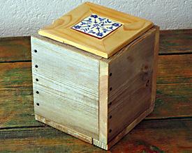 Caja doble madera con cerámica