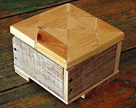 Caja triple madera
