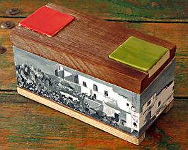 Caja doble cerámica rectangular