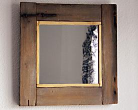 Espejo marco de visor de puerta de cortijo
