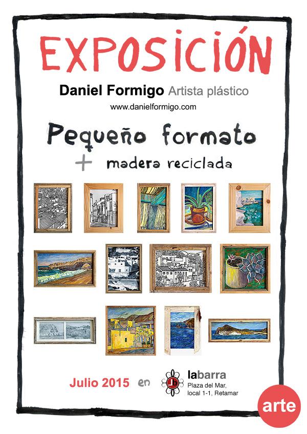 Exhibition Little format in Concepto La Barra, Retamar, Almería.