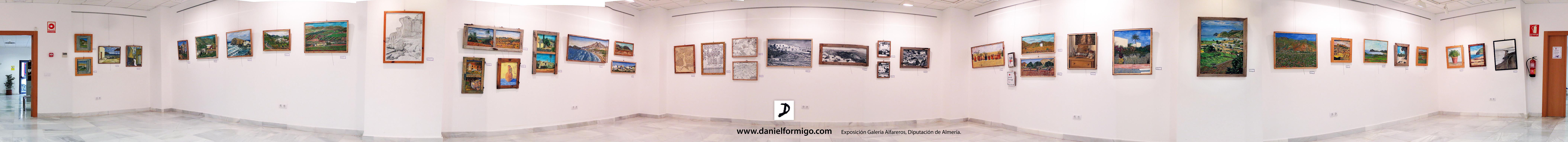 Exposición de pinturas y dibujos relacionados con los paisajes de Almería en Galería Sala Alfareros, Diputación de Almería